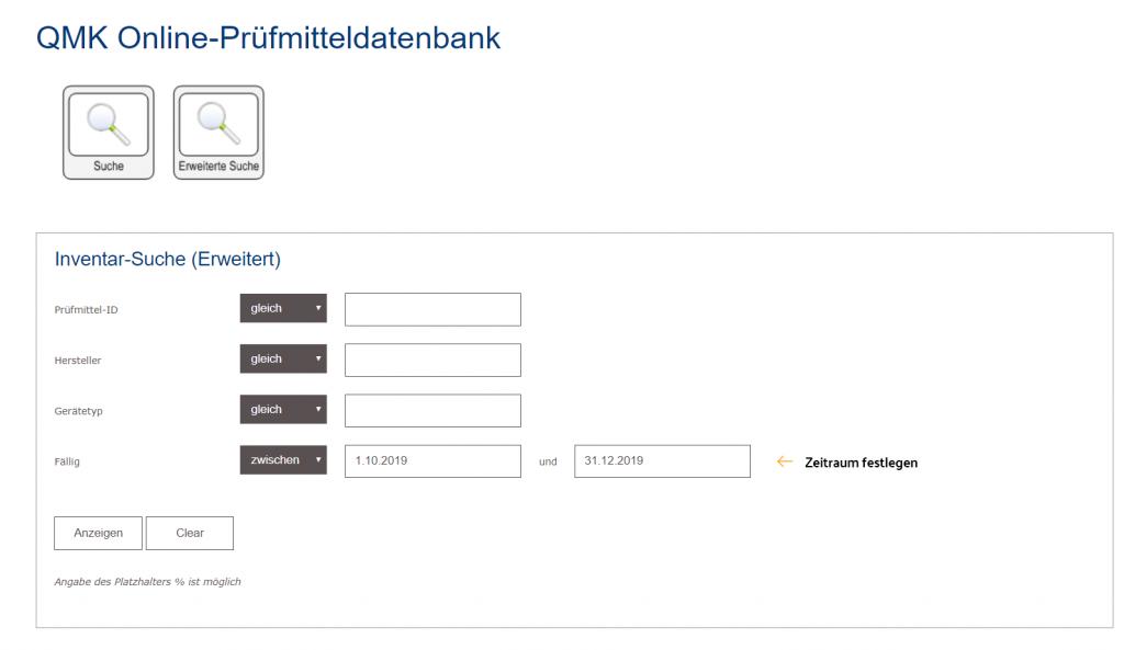 Die erweiterte Suche im Kunden-Portal